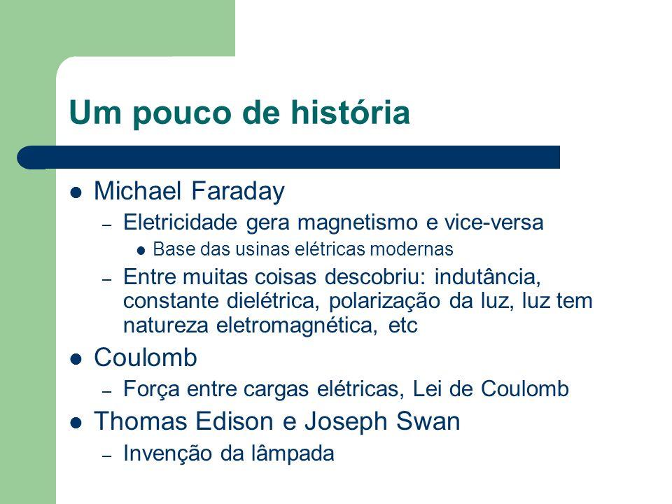 Um pouco de história Michael Faraday Coulomb