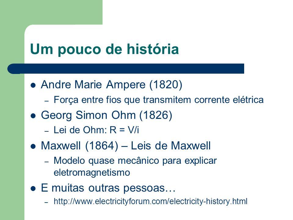 Um pouco de história Andre Marie Ampere (1820) Georg Simon Ohm (1826)