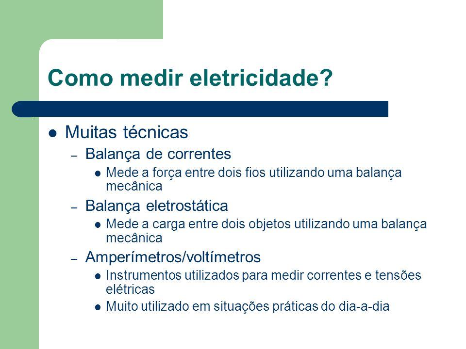 Como medir eletricidade