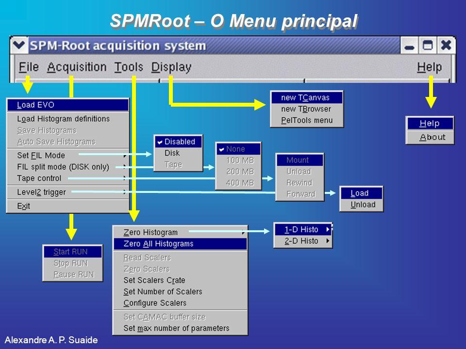 SPMRoot – O Menu principal