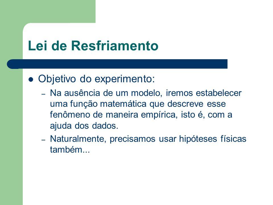 Lei de Resfriamento Objetivo do experimento: