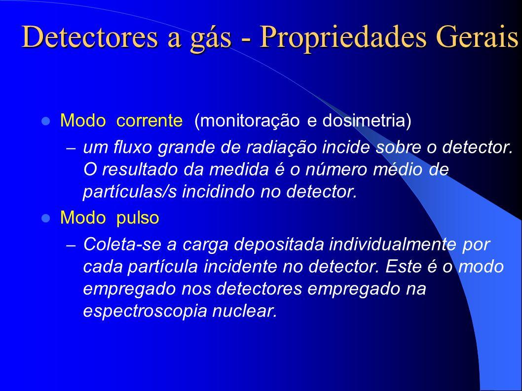 Detectores a gás - Propriedades Gerais