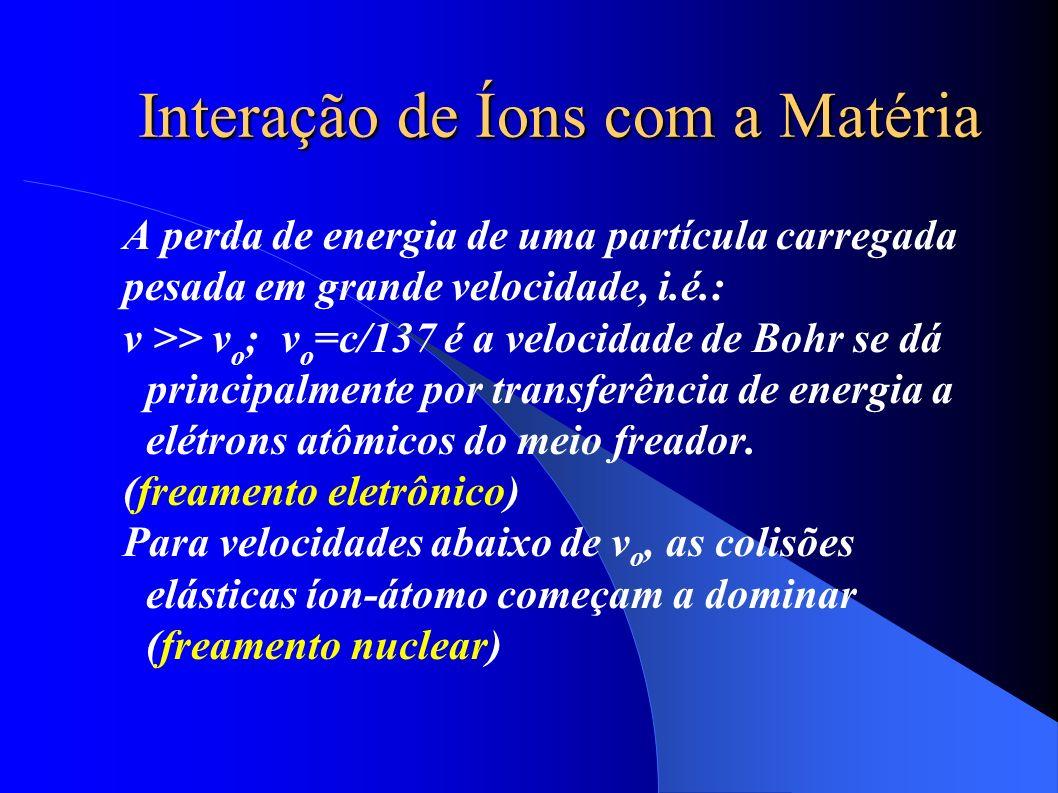 Interação de Íons com a Matéria