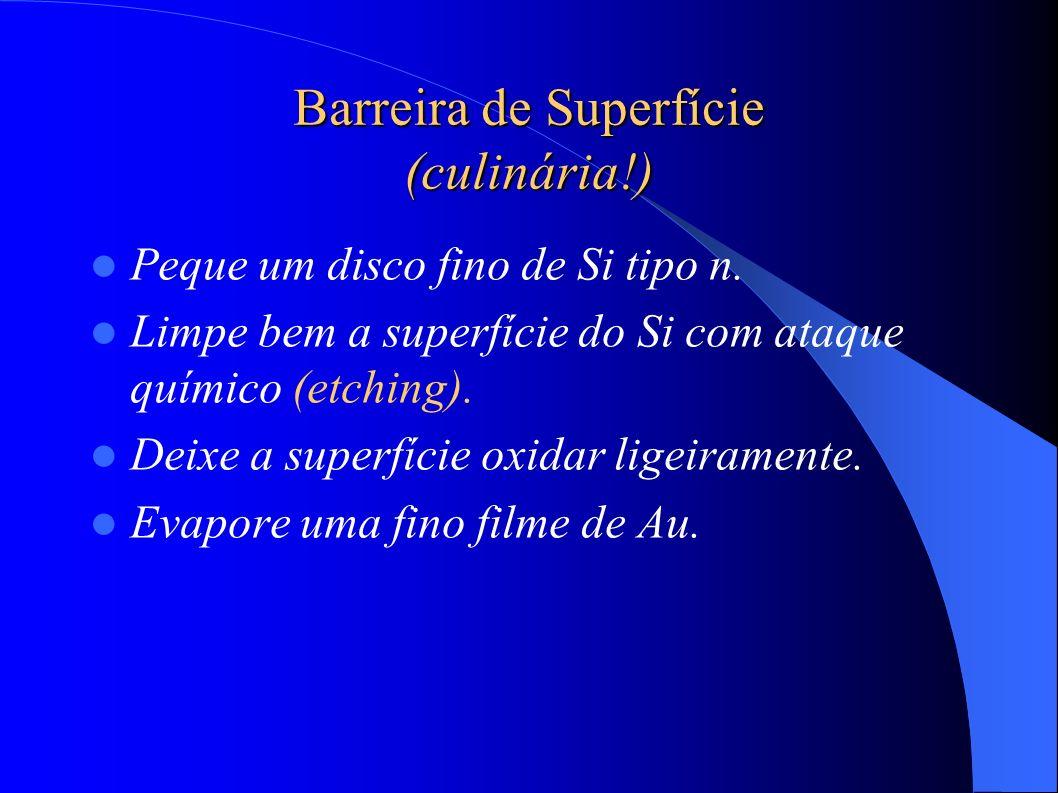 Barreira de Superfície (culinária!)
