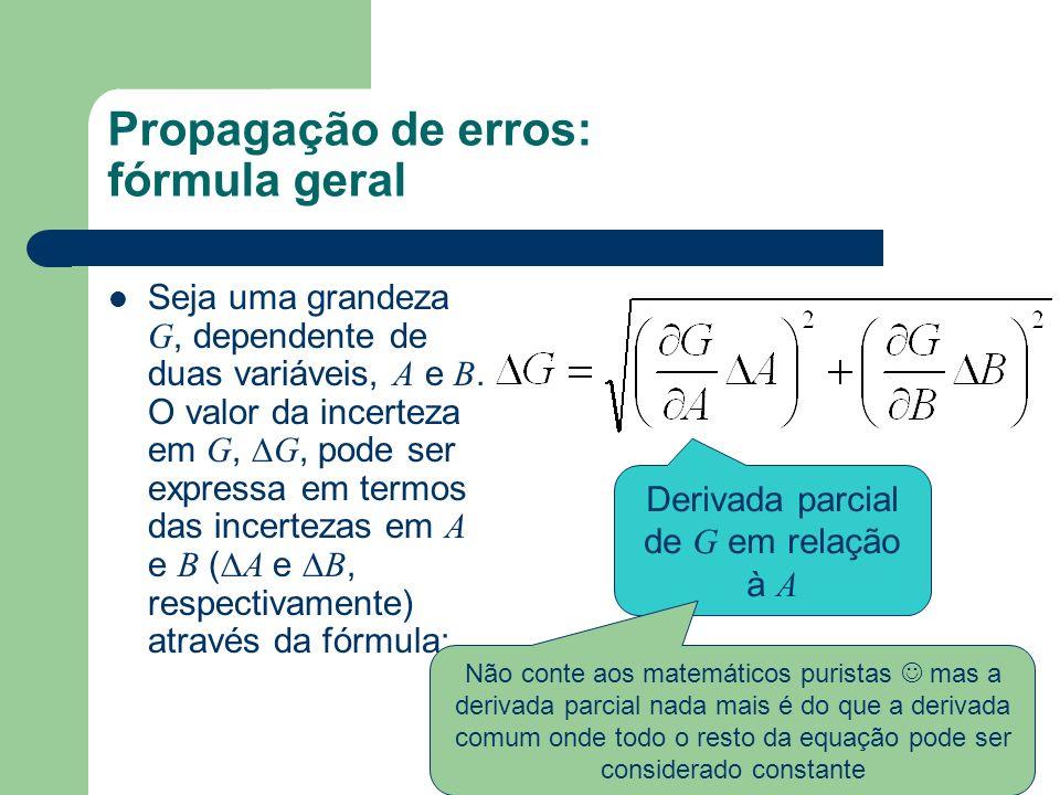Propagação de erros: fórmula geral