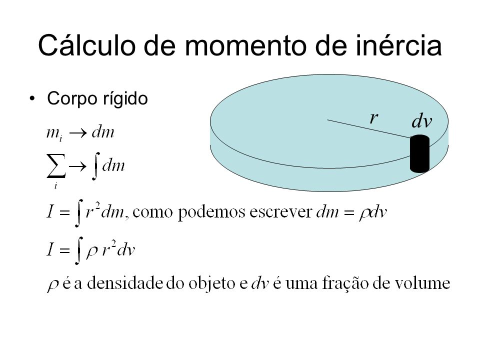 Cálculo de momento de inércia