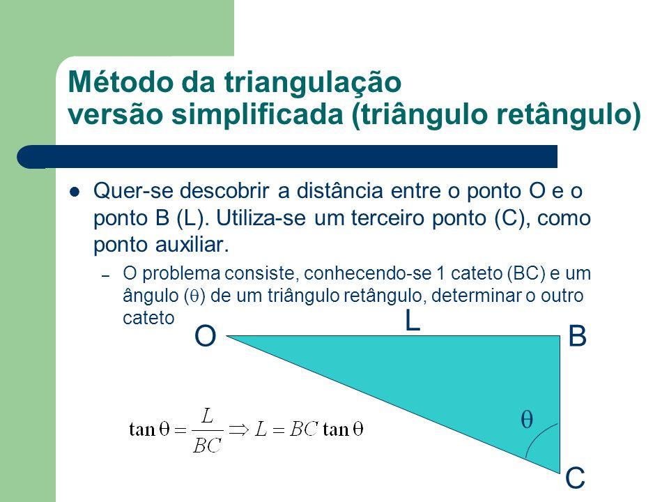 Método da triangulação versão simplificada (triângulo retângulo)