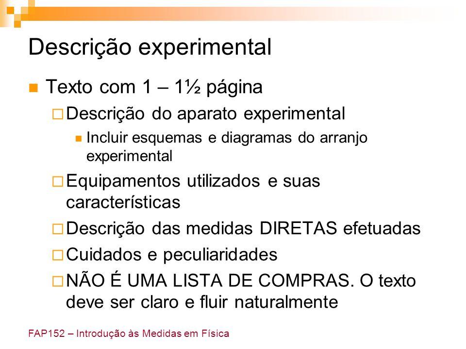 Descrição experimental