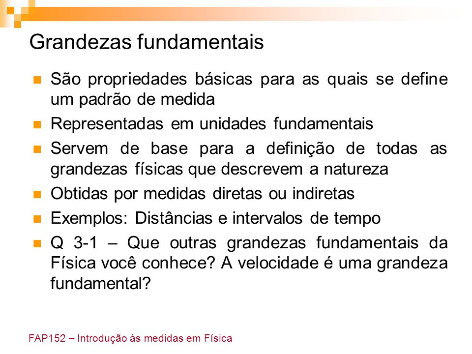 Grandezas fundamentais