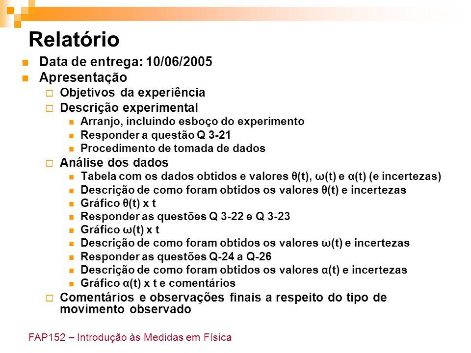 Relatório Data de entrega: 10/06/2005 Apresentação