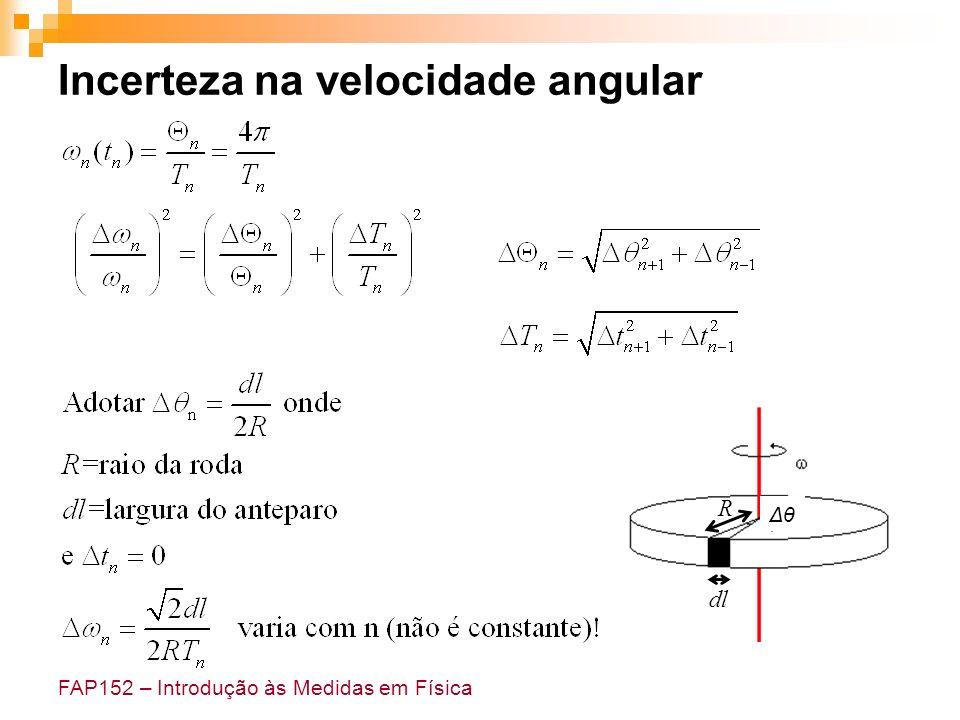 Incerteza na velocidade angular
