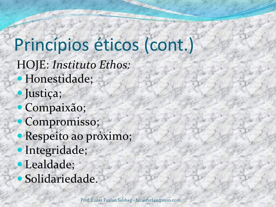 Princípios éticos (cont.)