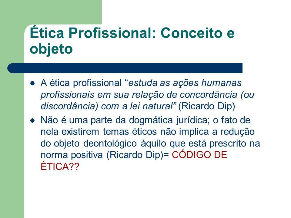 Ética Profissional: Conceito e objeto