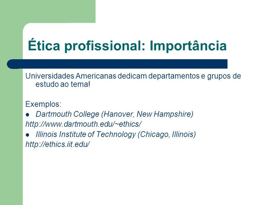 Ética profissional: Importância