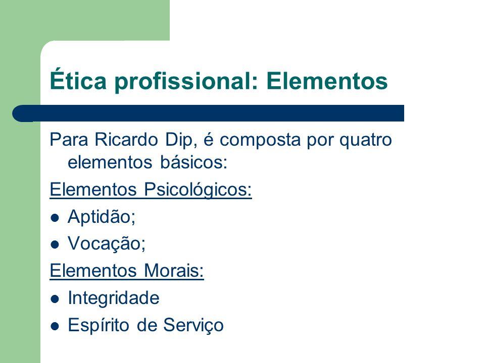 Ética profissional: Elementos
