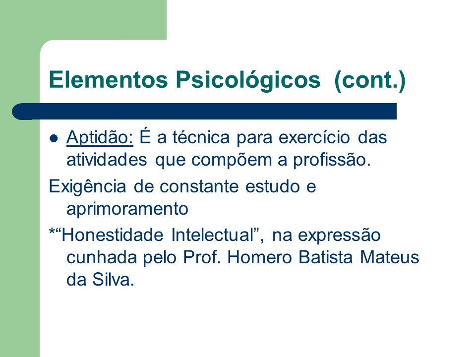 Elementos Psicológicos (cont.)