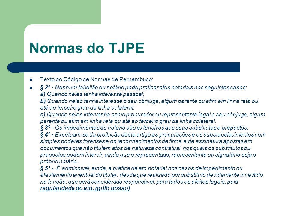 Normas do TJPE Texto do Código de Normas de Pernambuco: