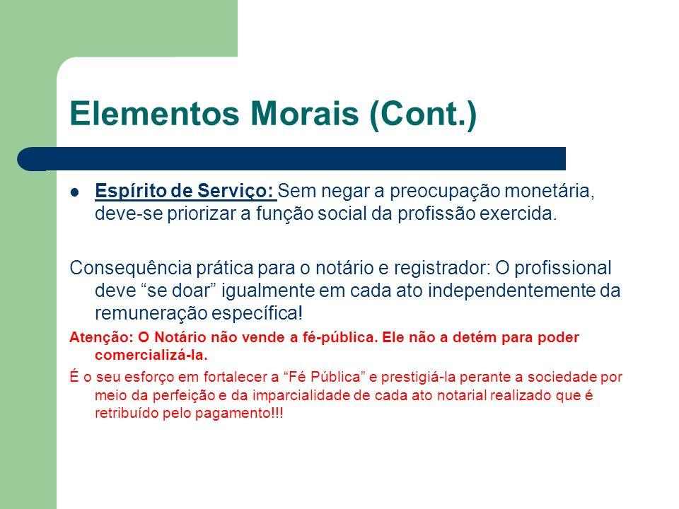 Elementos Morais (Cont.)