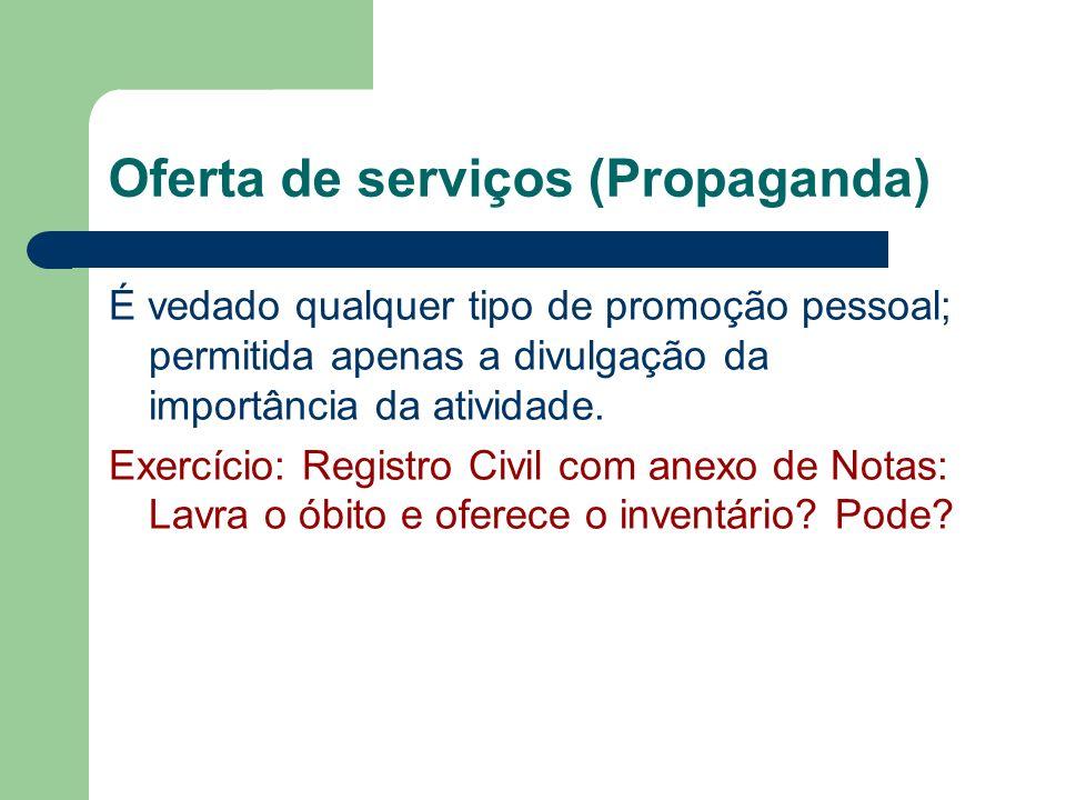 Oferta de serviços (Propaganda)