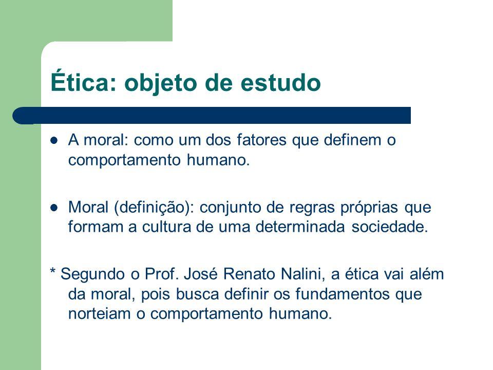 Ética: objeto de estudo