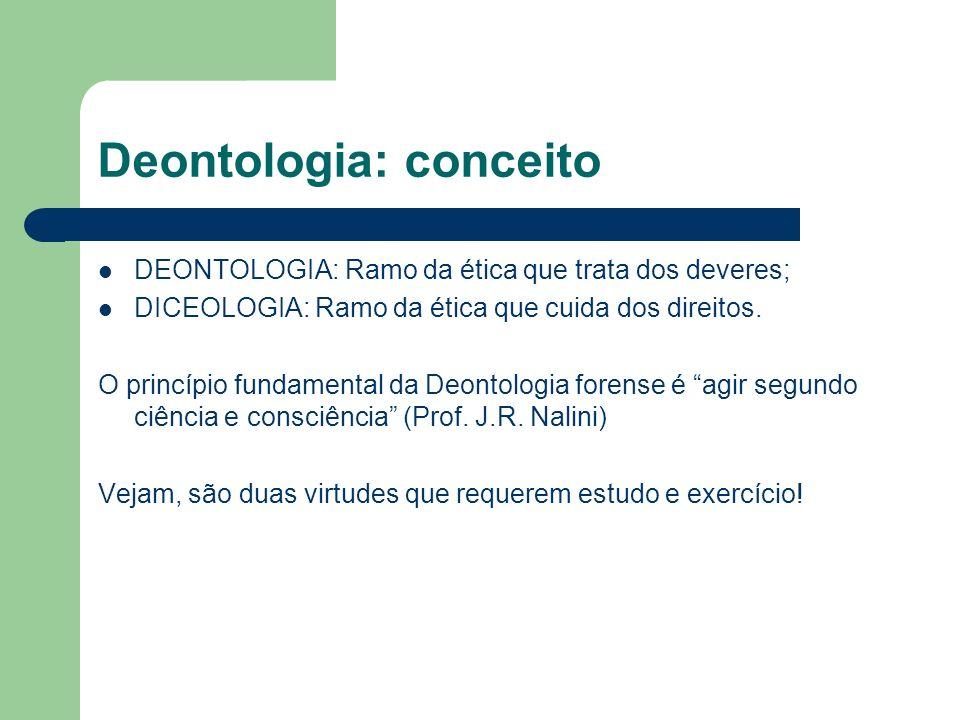 Deontologia: conceito