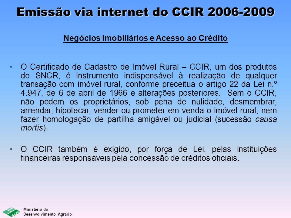 Emissão via internet do CCIR 2006-2009 Negócios Imobiliários e Acesso ao Crédito