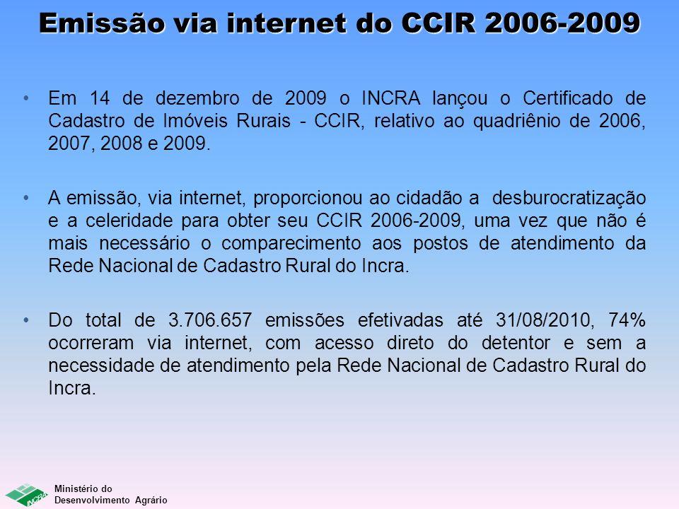 Emissão via internet do CCIR 2006-2009