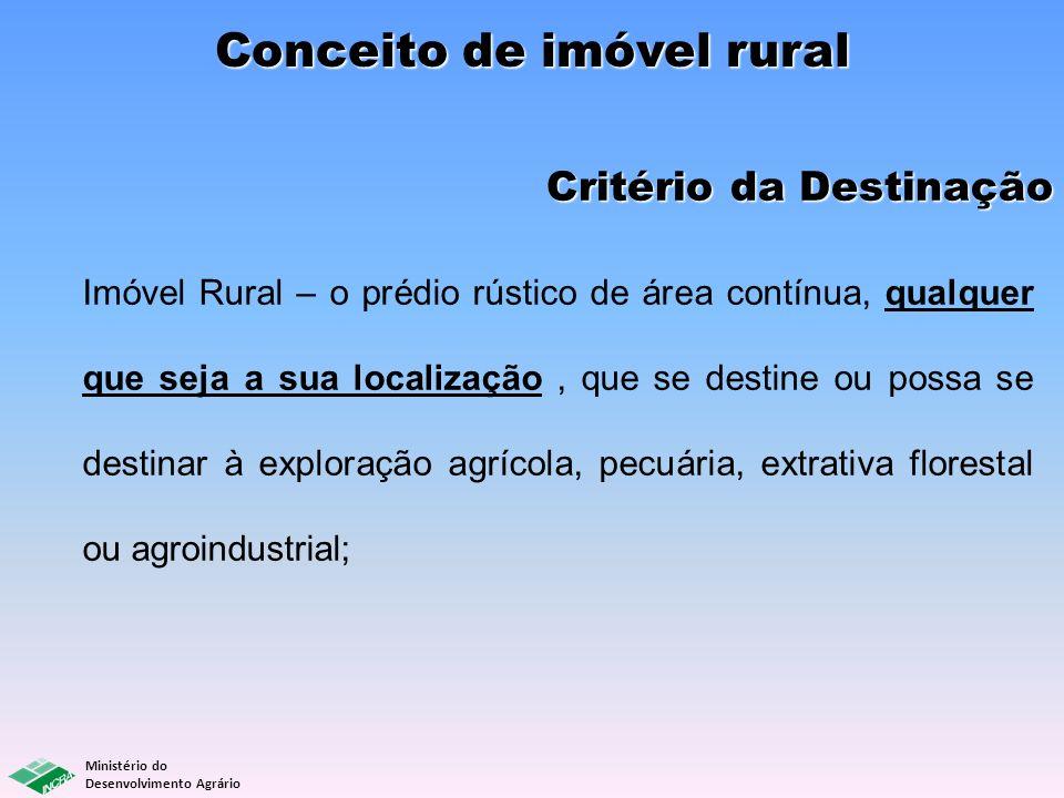 Conceito de imóvel rural