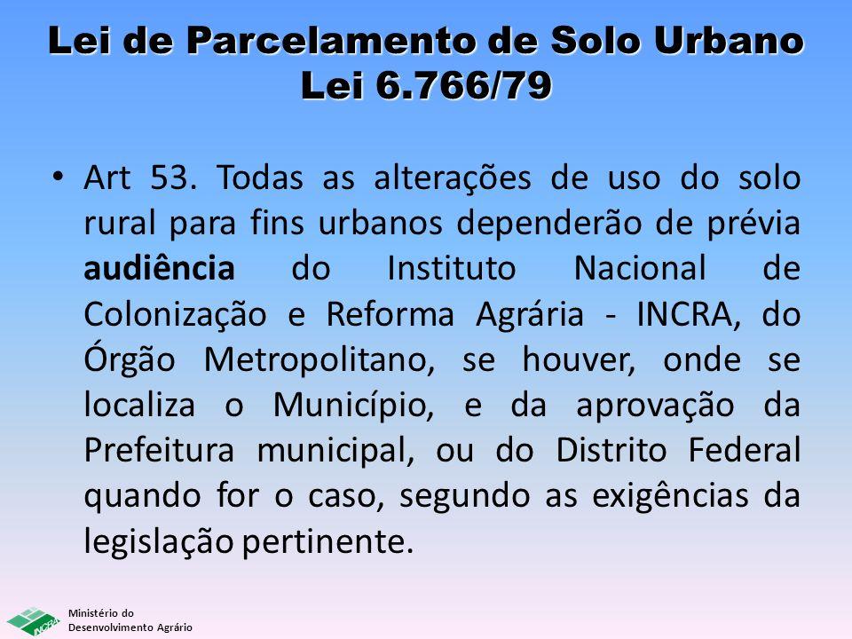 Lei de Parcelamento de Solo Urbano