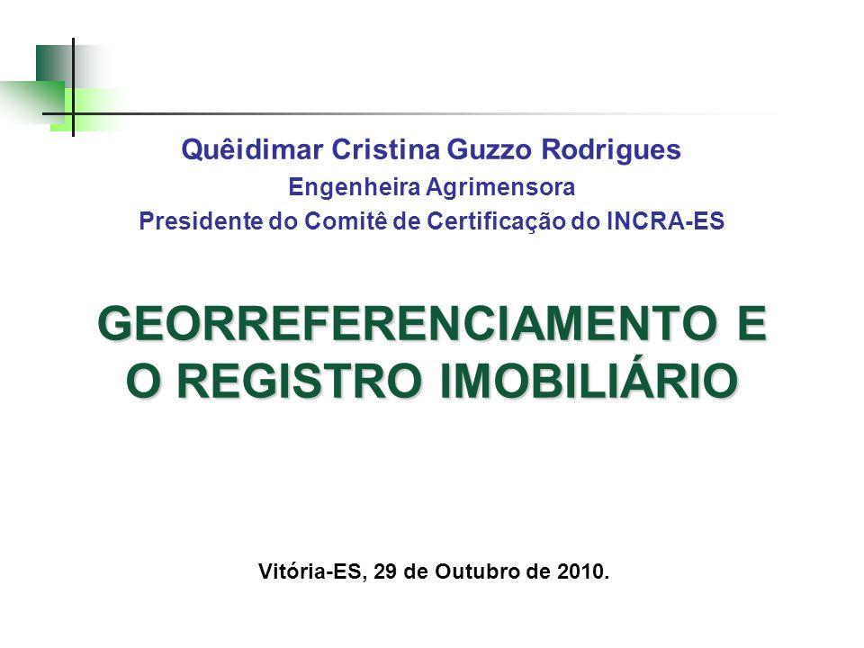 GEORREFERENCIAMENTO E O REGISTRO IMOBILIÁRIO