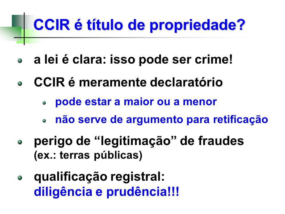 CCIR é título de propriedade