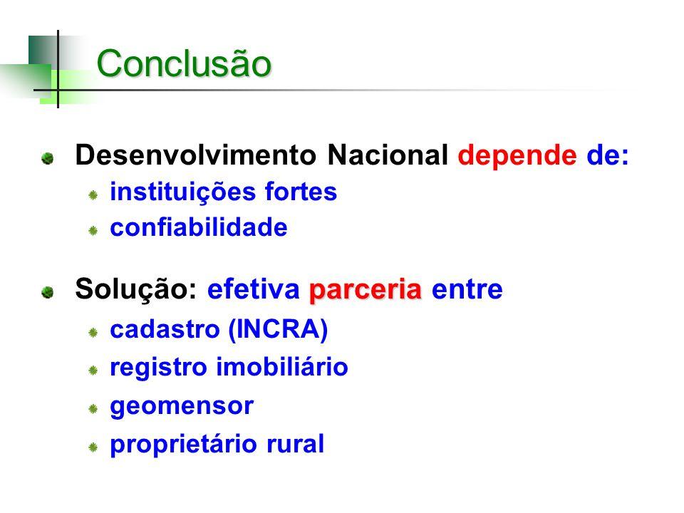 Conclusão Desenvolvimento Nacional depende de: