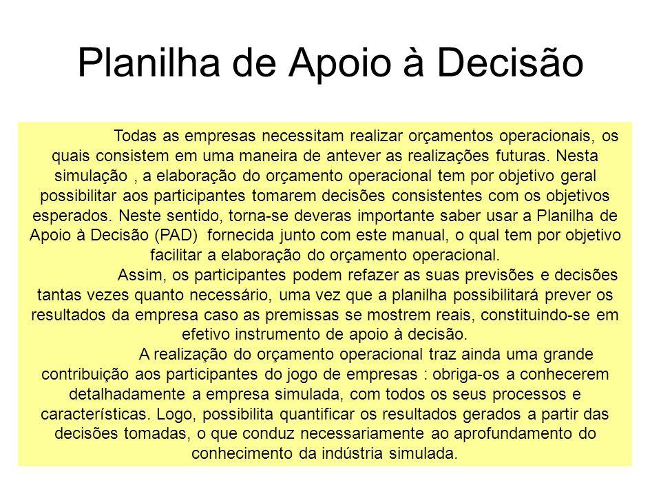 Planilha de Apoio à Decisão