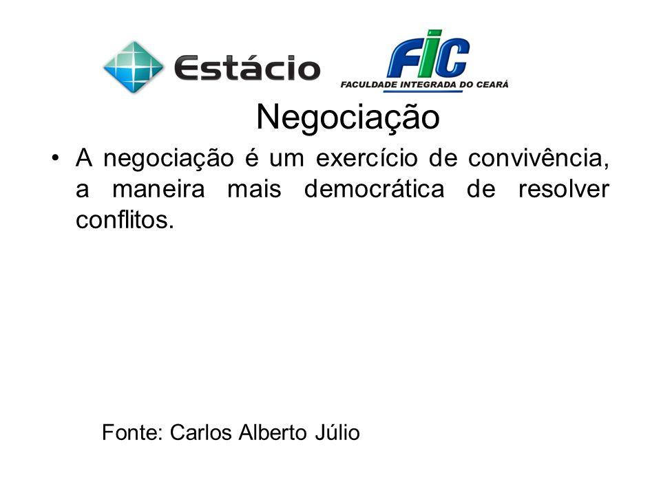 A negociação é um exercício de convivência, a maneira mais democrática de resolver conflitos.