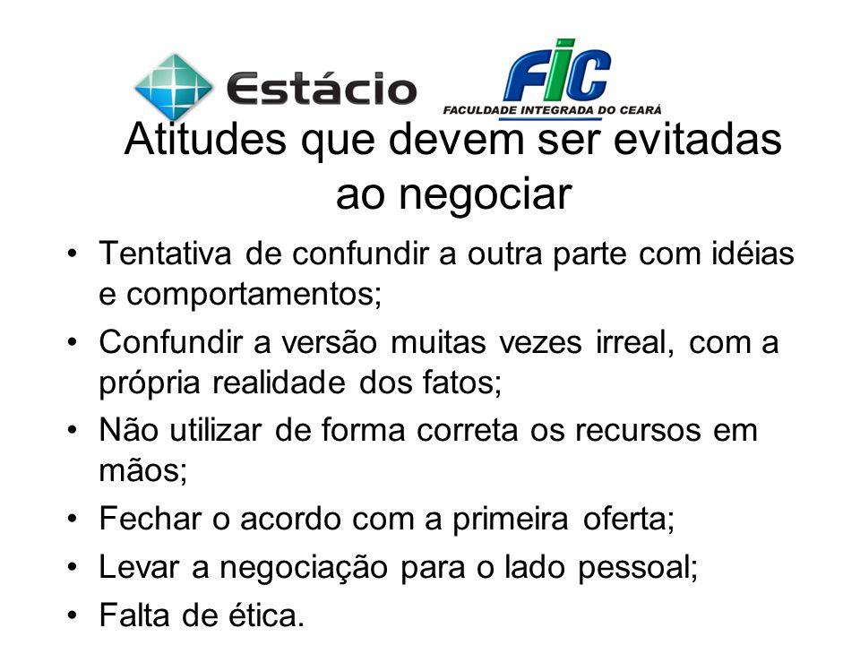Atitudes que devem ser evitadas ao negociar
