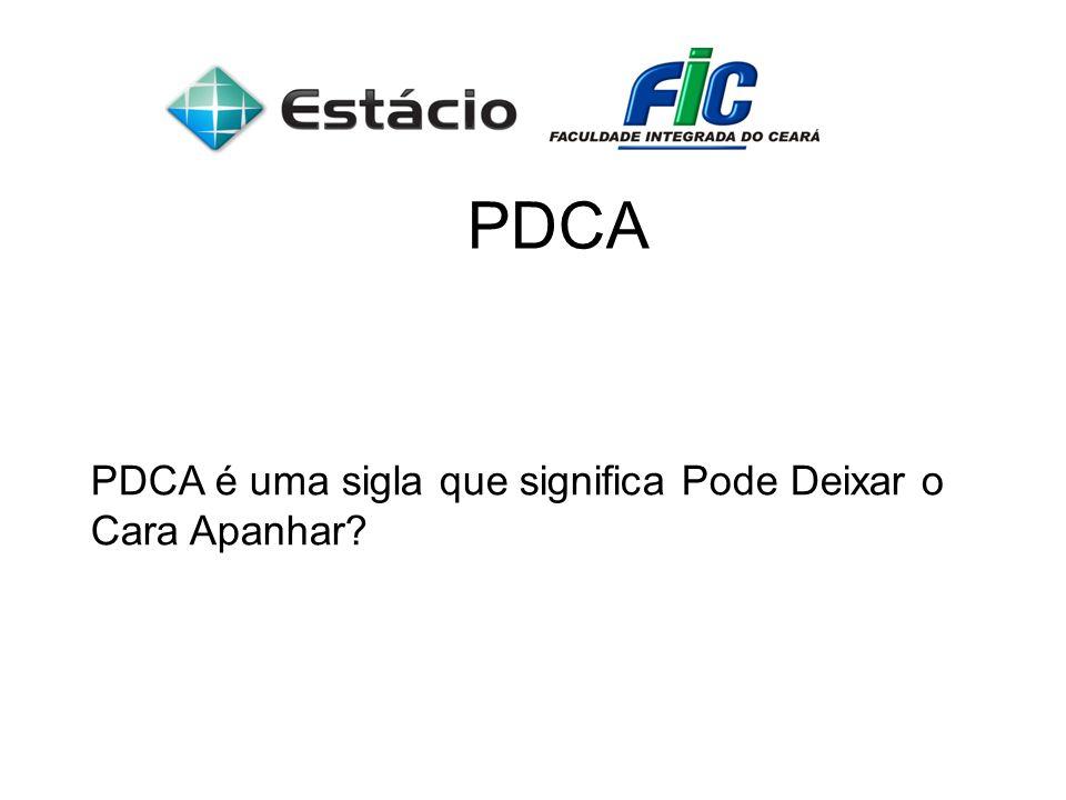 PDCA PDCA é uma sigla que significa Pode Deixar o Cara Apanhar