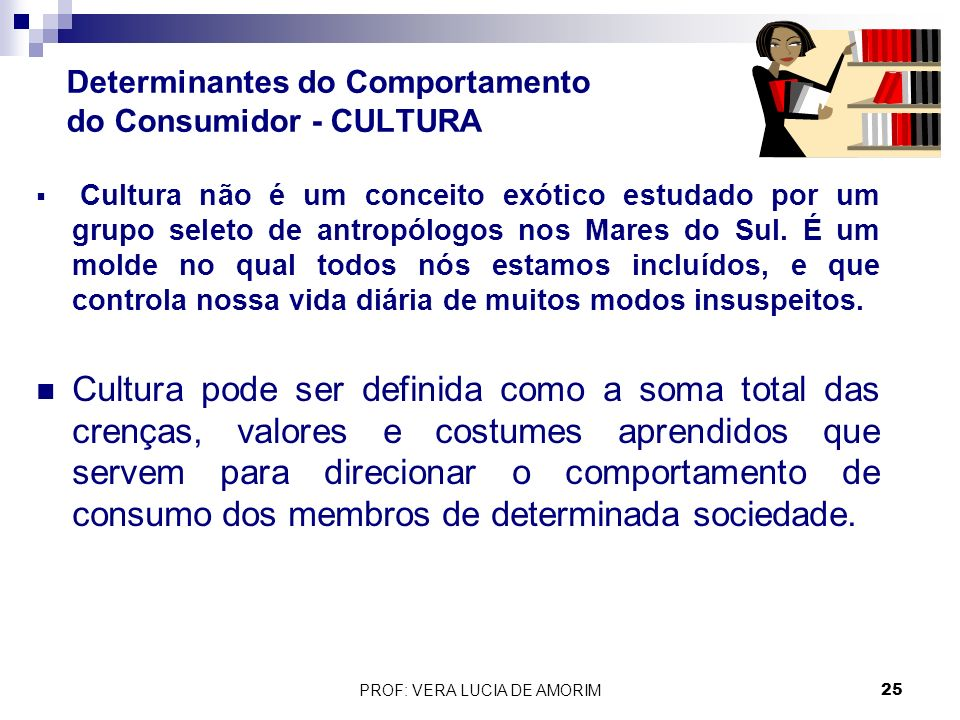 Determinantes do Comportamento do Consumidor - CULTURA