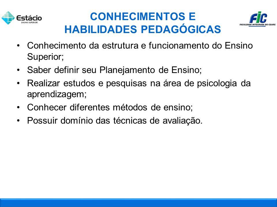 CONHECIMENTOS E HABILIDADES PEDAGÓGICAS