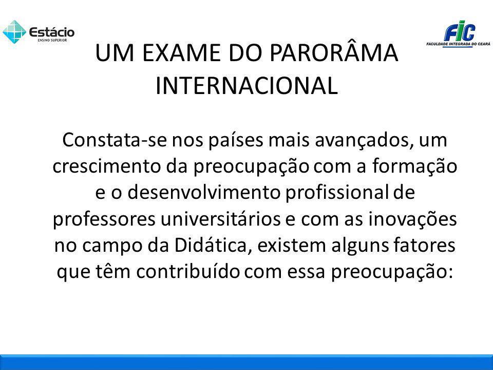 UM EXAME DO PARORÂMA INTERNACIONAL