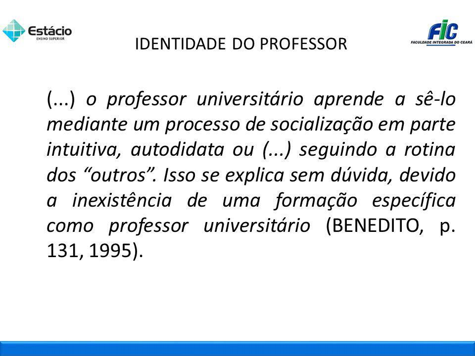 IDENTIDADE DO PROFESSOR
