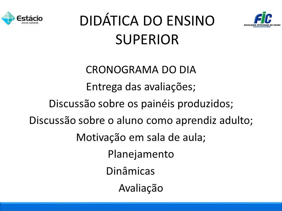 DIDÁTICA DO ENSINO SUPERIOR