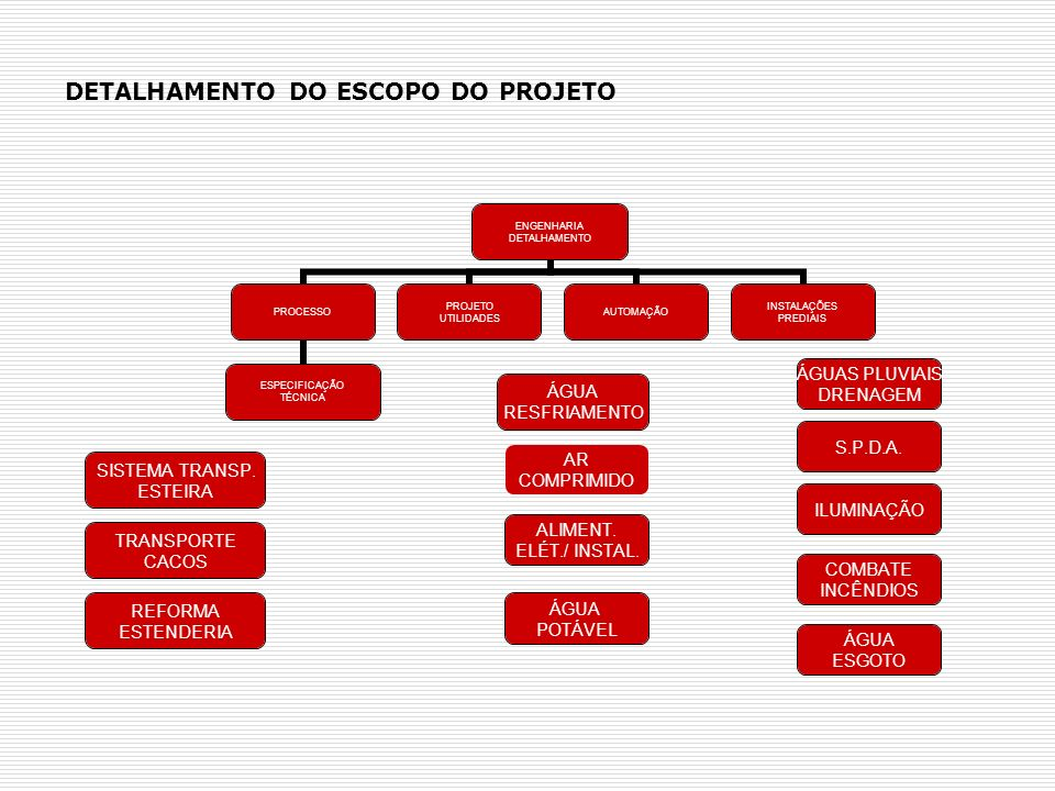 DETALHAMENTO DO ESCOPO DO PROJETO
