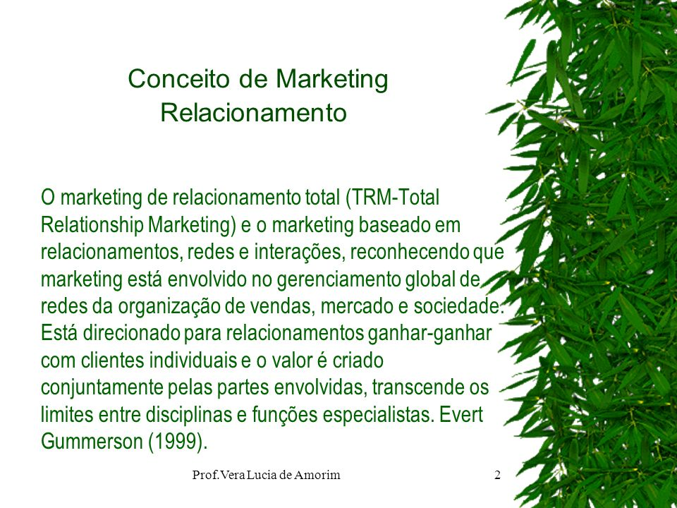 Conceito de Marketing Relacionamento