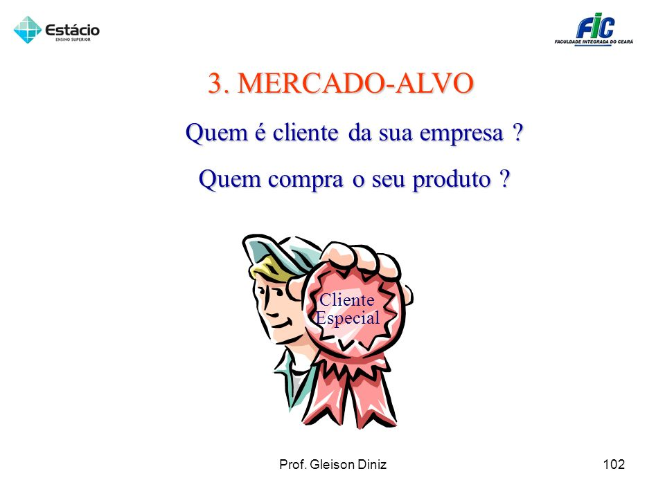 3. MERCADO-ALVO Quem é cliente da sua empresa