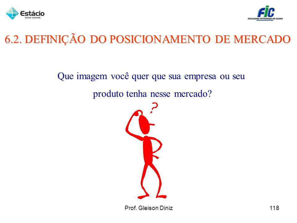 6.2. DEFINIÇÃO DO POSICIONAMENTO DE MERCADO