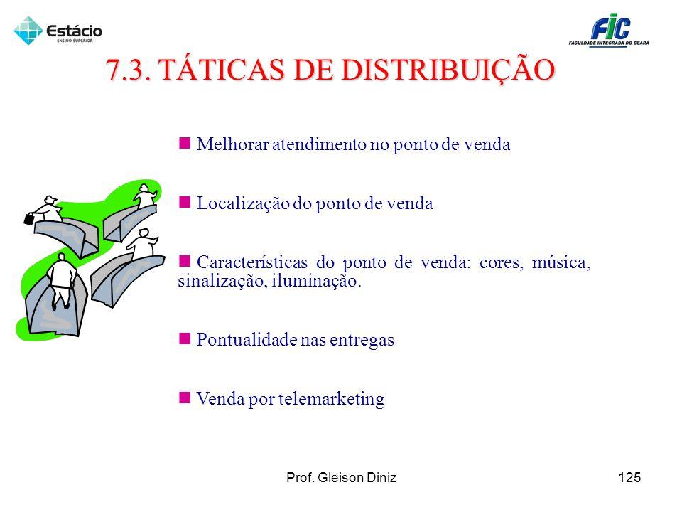 7.3. TÁTICAS DE DISTRIBUIÇÃO