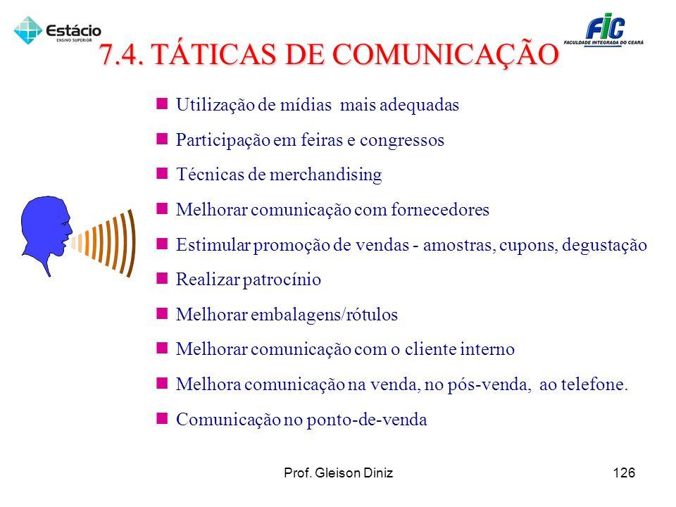 7.4. TÁTICAS DE COMUNICAÇÃO