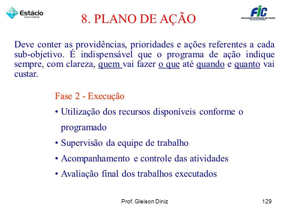 8. PLANO DE AÇÃO