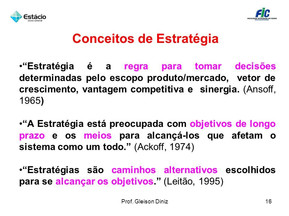 Conceitos de Estratégia