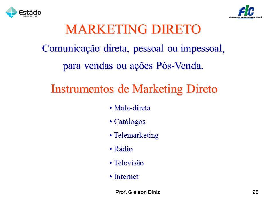 MARKETING DIRETO Instrumentos de Marketing Direto